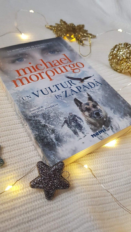 Un vultur în zăpadă – Michael Porpurgo (recenzie, Editura Nemira), ilustrații de  Michael Foreman